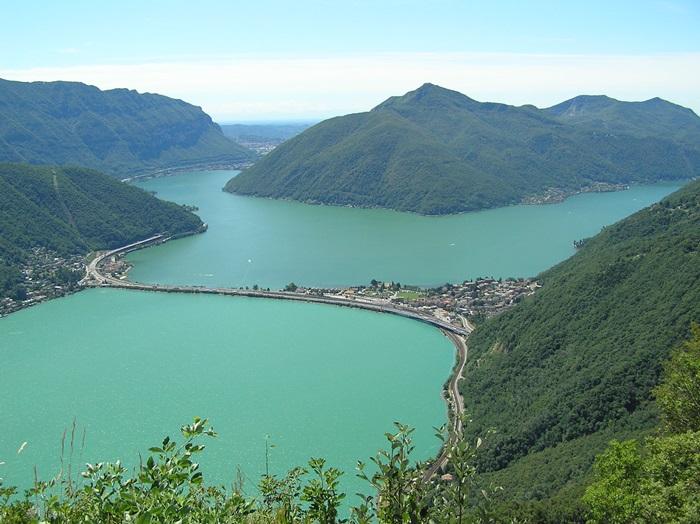 نتيجة بحث الصور عن بحيرة لوغانو